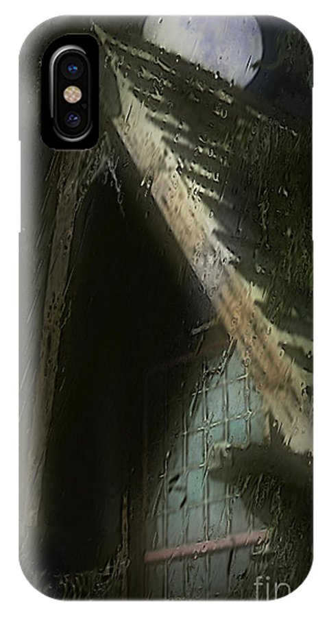 House IPhone X Case featuring the painting The Haunted Gable by RC DeWinter