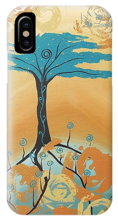 Healing Tree IPhone X / XS Case featuring the painting The Healing Tree by Jean Fry