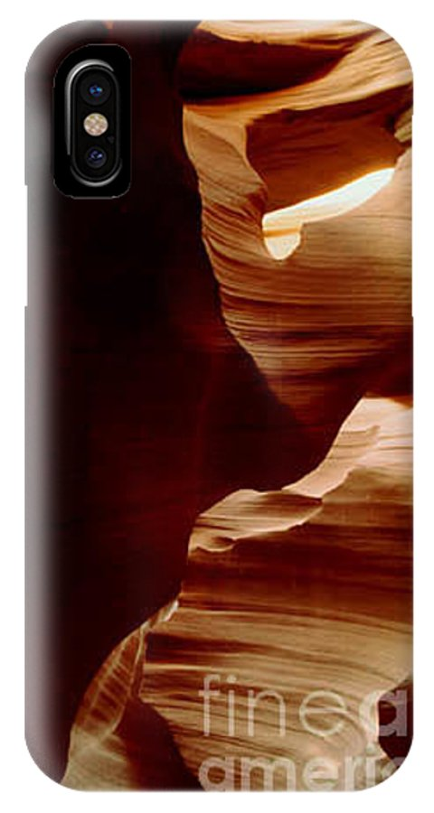 Landscape IPhone X Case featuring the photograph The Heart Of Antelope Canyon by Kathy McClure