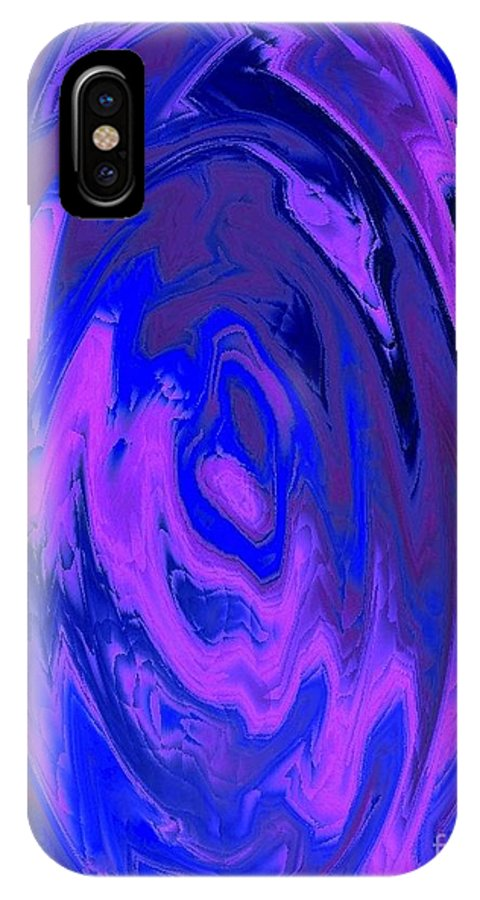 Pink IPhone X Case featuring the painting The Heart Of It by Catherine Lott