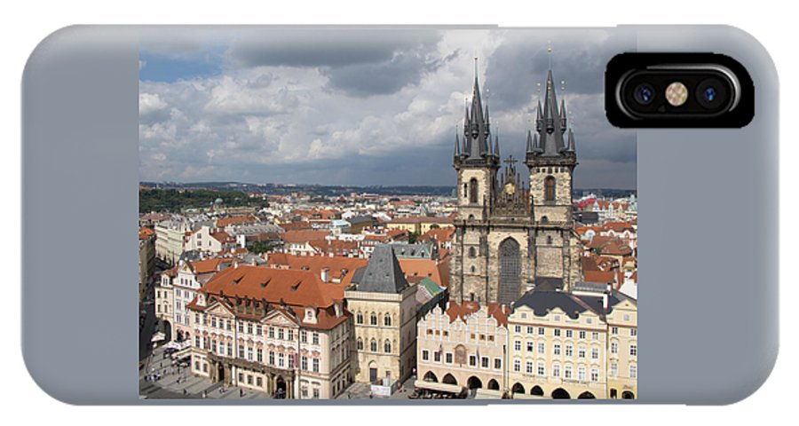 Prague IPhone X / XS Case featuring the photograph The Heart Of Old Town by Ann Horn