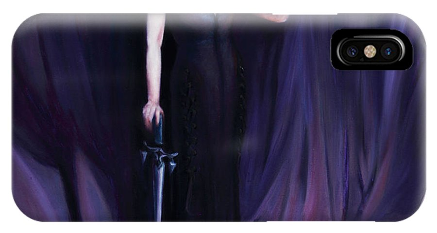 Shelley Irish IPhone X Case featuring the painting The Heretic by Shelley Irish