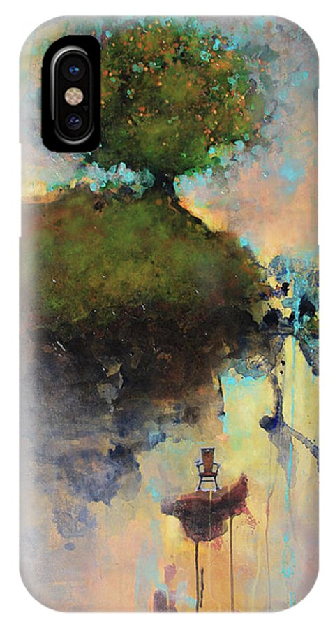 Joshua Smith IPhone X Case featuring the painting The Hiding Place by Joshua Smith