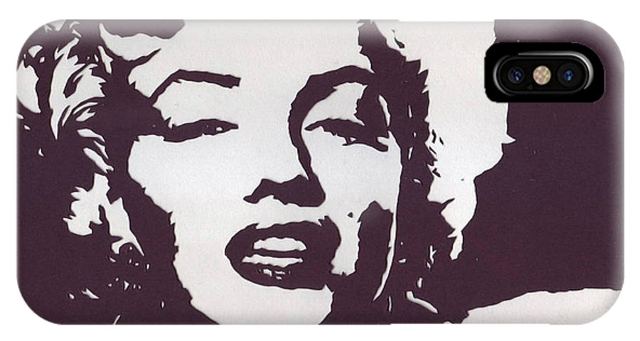 Marilyn Monroe IPhone X Case featuring the mixed media The Hollywood Goddess by Bernie Levine