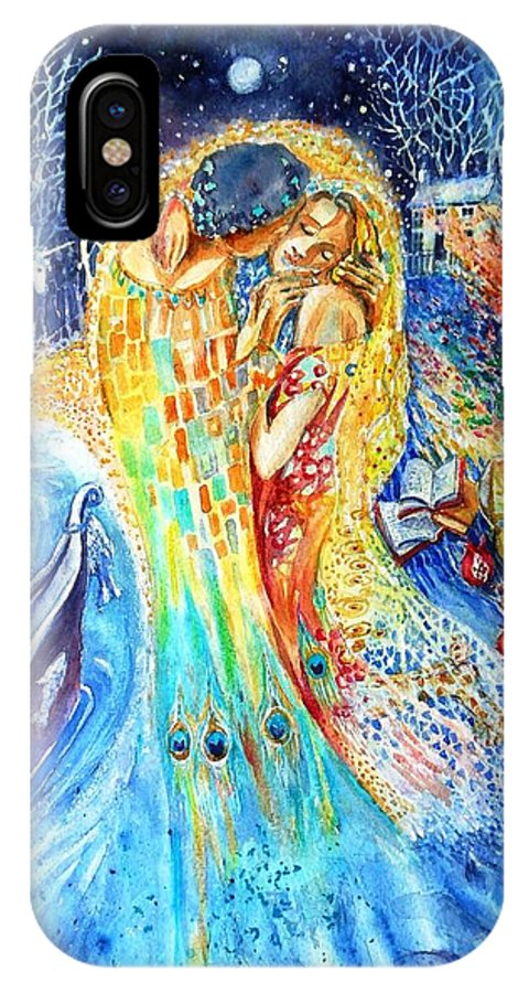 The Kiss IPhone X Case featuring the painting The Homecoming Kiss After Gustav Klimt by Trudi Doyle