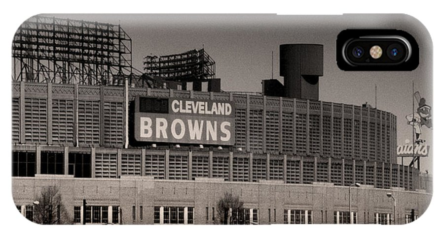 Cleveland IPhone X Case featuring the photograph The Hometeams by Kenneth Krolikowski