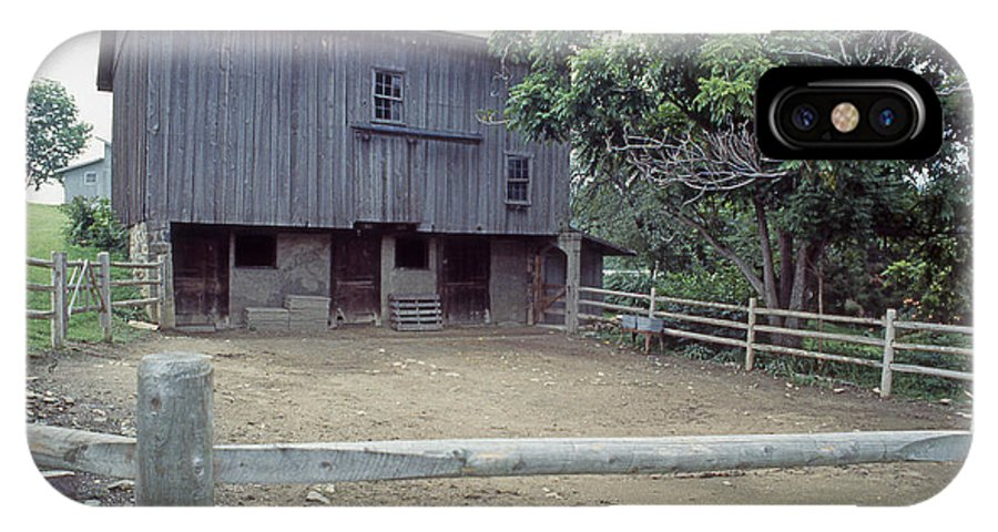 Barn IPhone X / XS Case featuring the photograph The Horses Are Out Of The Barn by Gerald Schaffer