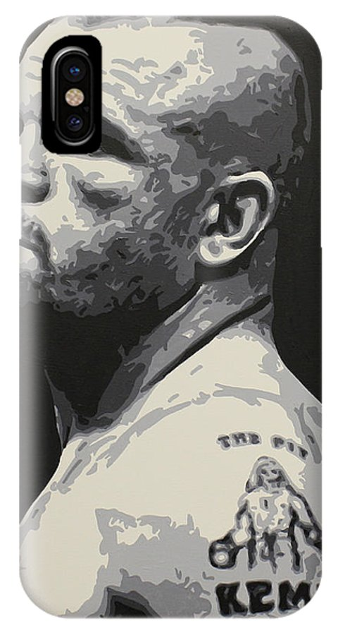 Chuck Liddell IPhone X / XS Case featuring the painting The Iceman by Geo Thomson