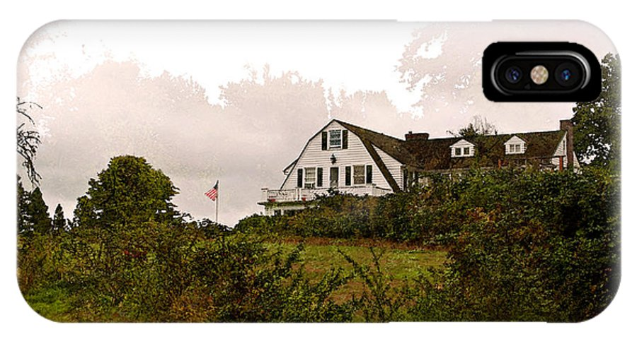 Inn IPhone X Case featuring the photograph The Inn by Gwyn Newcombe