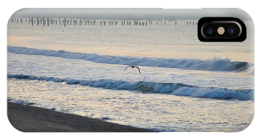 Jersey IPhone X Case featuring the photograph The Jersey Surf by Bill Cannon
