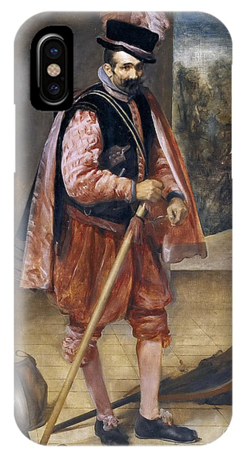 Diego Velazquez IPhone X Case featuring the painting The Jester Named Don John Of Austria by Diego Velazquez