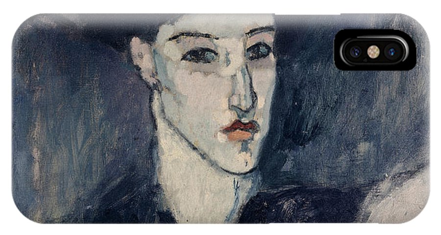 Modigliani IPhone X Case featuring the painting The Jewess by Amedeo Modigliani