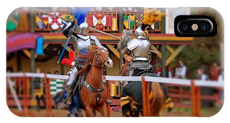 Fine Art IPhone X Case featuring the photograph The Jousters 2 by Rodney Lee Williams