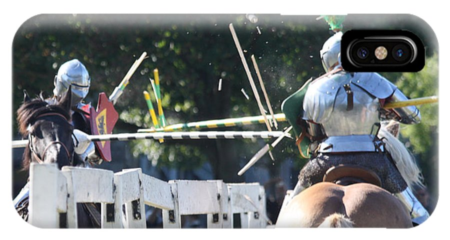 The Jousting Contest IPhone X Case featuring the photograph The Jousting Contest by John Telfer