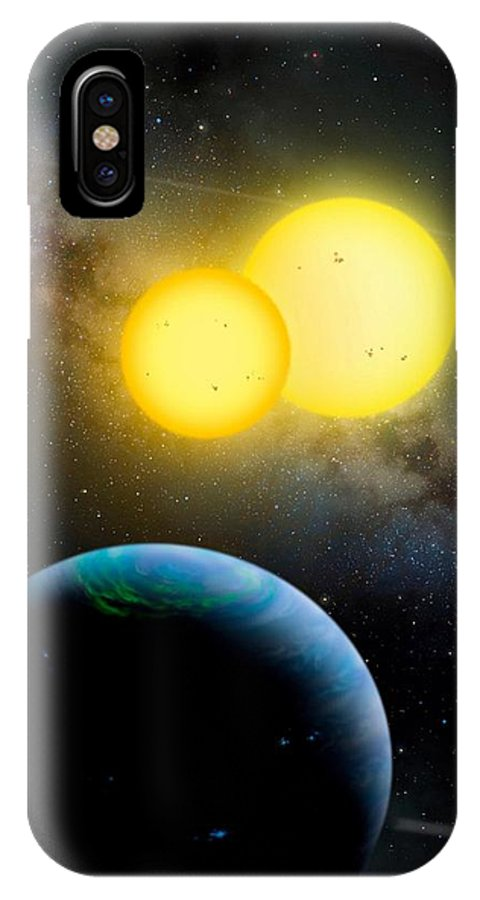 Moon IPhone X Case featuring the photograph The Kepler 35 System by Movie Poster Prints