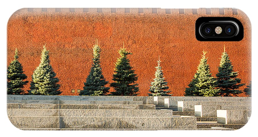 Architecture IPhone X Case featuring the photograph The Kremlin Wall - Square by Alexander Senin