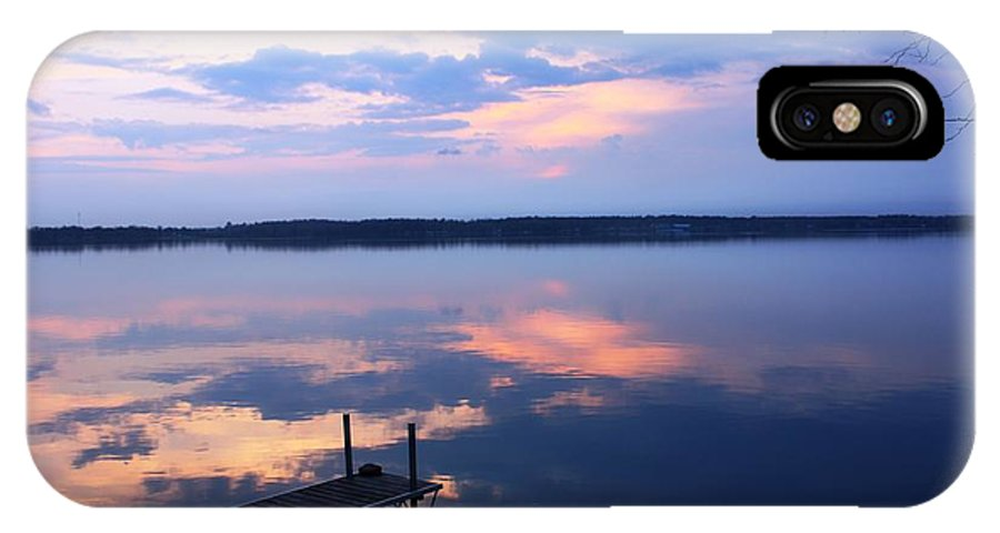 Lake.mirror IPhone X Case featuring the photograph The Lake Is A Mirror by Pat Purdy
