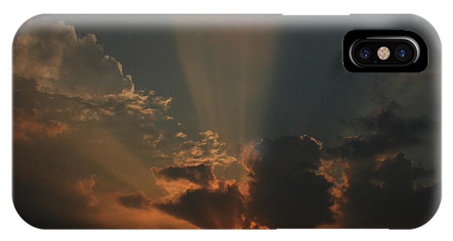 Sunset IPhone X Case featuring the photograph The Last Minute by Dragomir Chavdarov