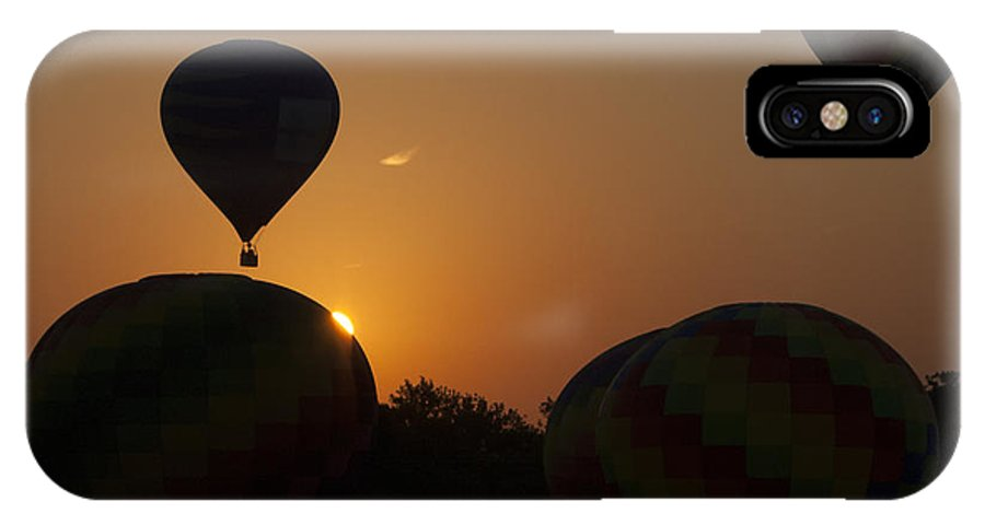 Hot Air Balloon IPhone X Case featuring the photograph The Launch by Debby Richards