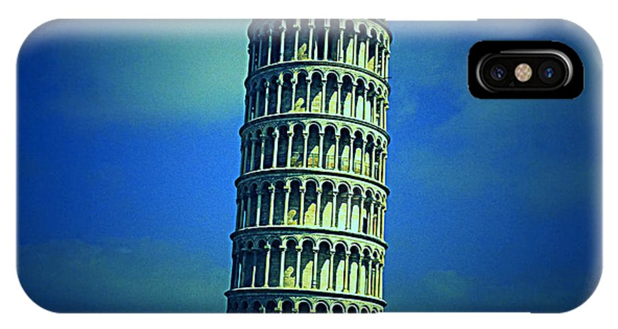 Leaning IPhone X Case featuring the photograph The Leaning Tower Of Pisa Italy by Megan Victoria