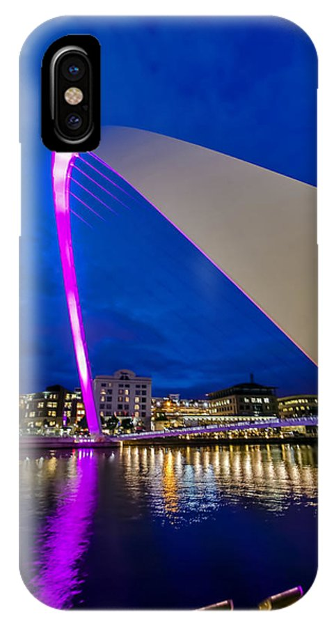 Newcastle IPhone X Case featuring the photograph The Light Show by Trevor Kersley