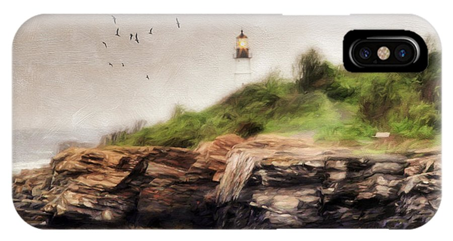 Lighthouse IPhone X Case featuring the photograph The Light Will Guide You by Darren Fisher