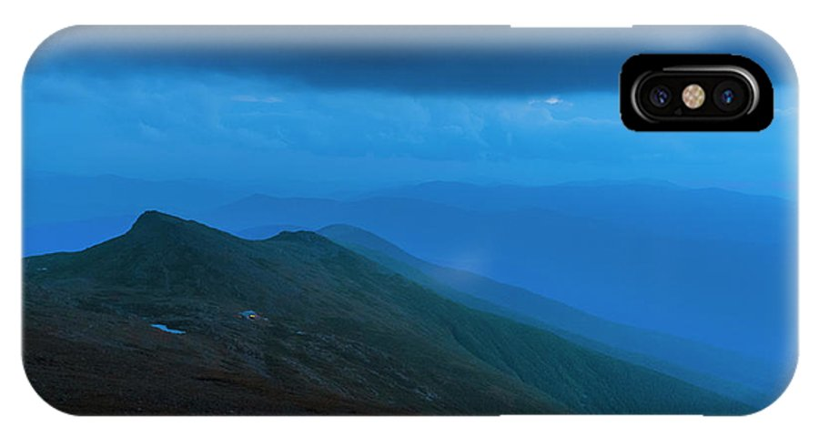 Evening IPhone X Case featuring the photograph The Lights Of Lake Of The Clouds Hut by Joe Klementovich