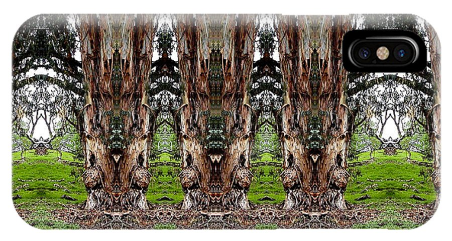 Trees IPhone X Case featuring the digital art The Lineup by William Durfey