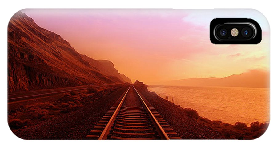 Columbia River IPhone X Case featuring the photograph The Long Walk To No Where by Jeff Swan