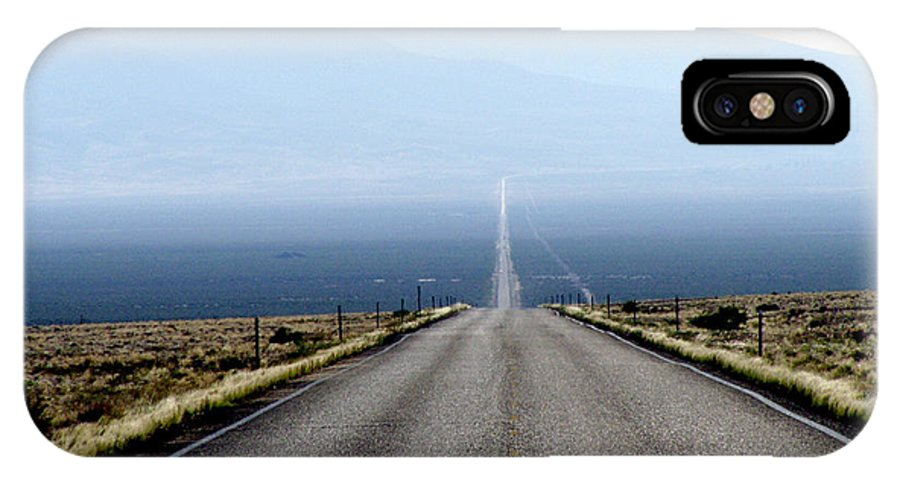 Desert IPhone X Case featuring the photograph The Lonliest Road In America by Gerry Childs