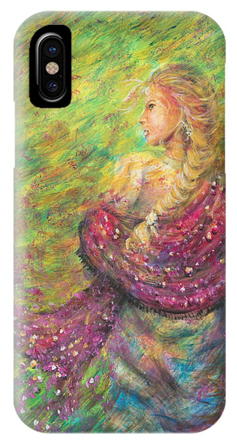 Lady IPhone X Case featuring the painting The Magdelene by Nik Helbig