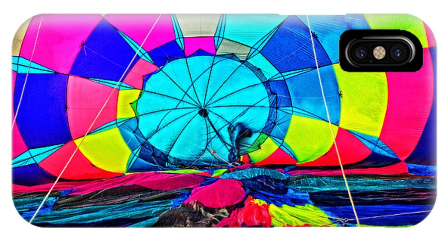Hot Air Balloon IPhone X Case featuring the photograph The Man Behind Inflation by Mike Martin
