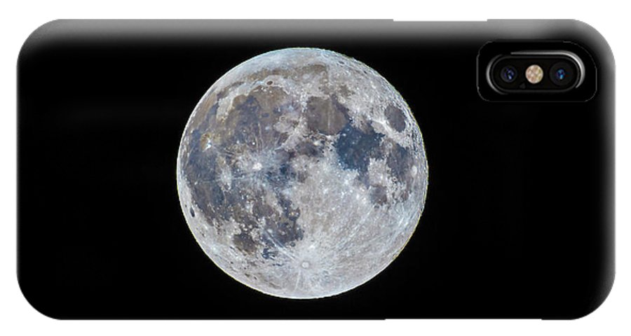 Alan Dyer IPhone X Case featuring the photograph The March Mini-moon by Alan Dyer
