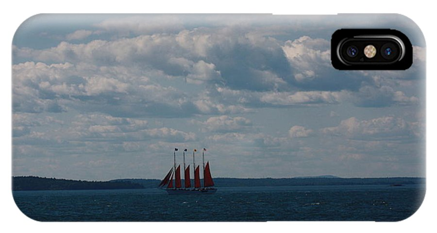 Maine IPhone X / XS Case featuring the photograph Margaret Todd - The Schooner by Dora Sofia Caputo Photographic Design and Fine Art