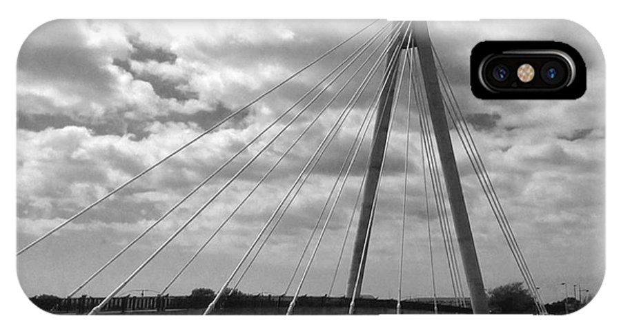 Suspension Bridge IPhone X Case featuring the photograph The Marine Road Bridge Southport by Joan-Violet Stretch