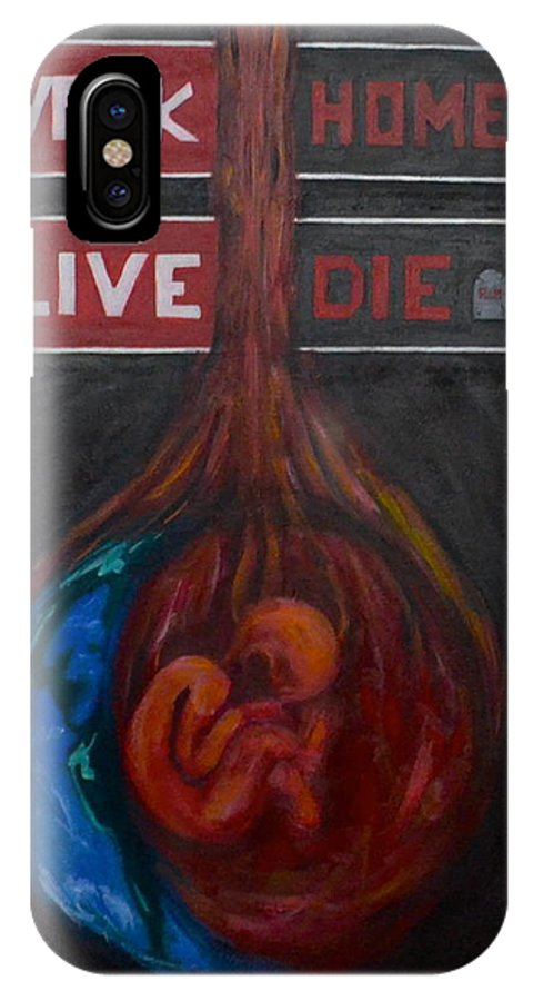 Life IPhone X / XS Case featuring the painting The Meaning Of Life by Vykky Gamble