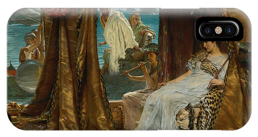 Lawrence Alma-tadema IPhone X Case featuring the painting The Meeting Of Antony And Cleopatra 41 Bc by Lawrence Alma-Tadema