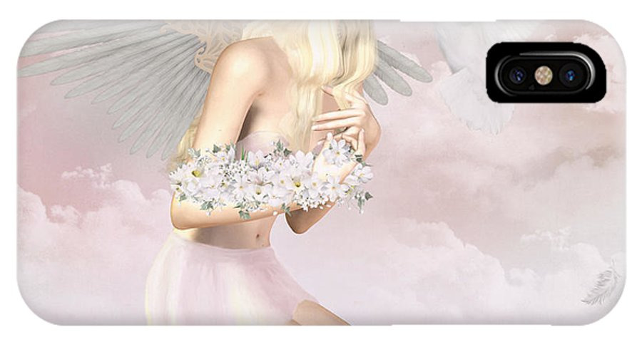 Angel IPhone X Case featuring the digital art The Messenger by Tori Beveridge
