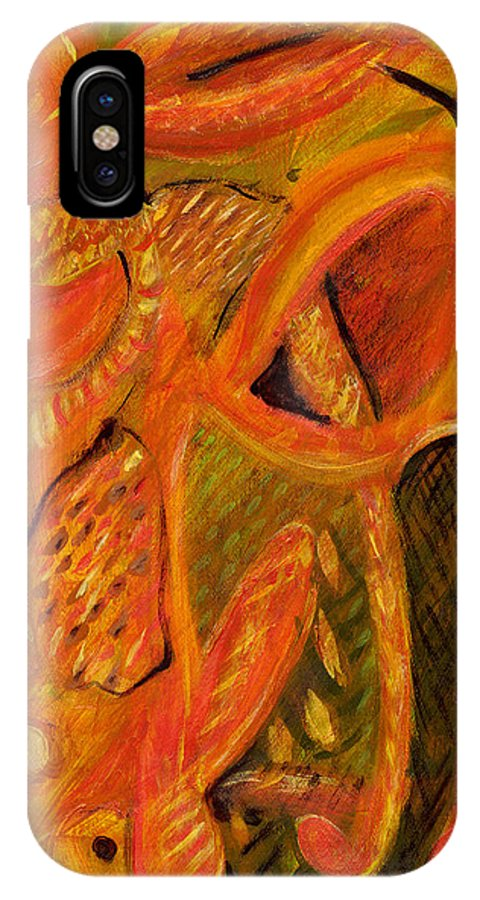 Abstract Art IPhone X Case featuring the painting The Mirage by Stephen Lucas