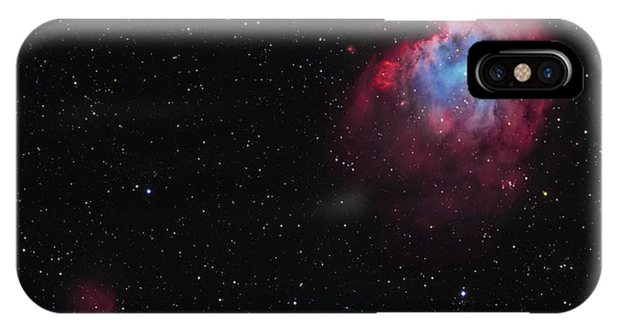 Horizontal IPhone X Case featuring the photograph The Monkey Head Nebula And Sh2-247 by Lorand Fenyes