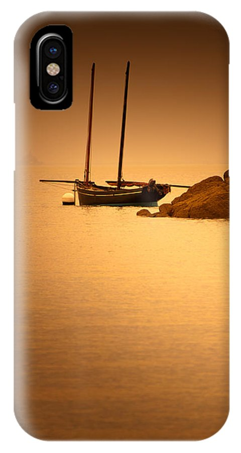 Loriental IPhone X Case featuring the photograph The Mont Saint-michel Bay At Sunset by Loriental Photography