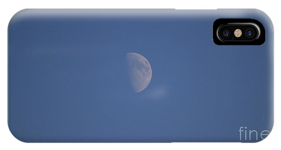 Moon IPhone X Case featuring the photograph The Moon by Four Hands Art