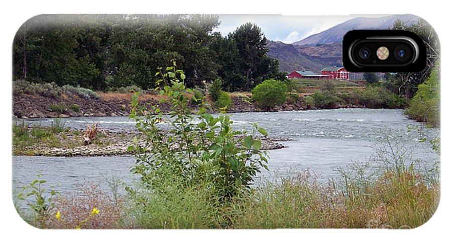 Naches River IPhone X Case featuring the photograph The Naches River by Charles Robinson