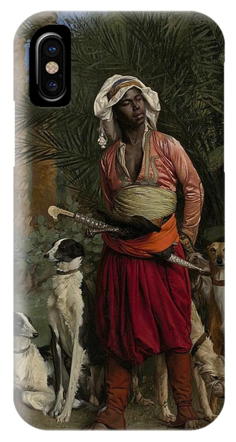 The Negro Master Of The Hounds IPhone X Case featuring the painting The Negro Master Of The Hounds by Jean-Leon Gerome