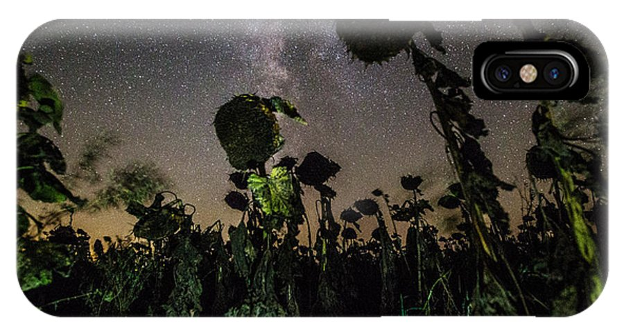 Plants IPhone X Case featuring the photograph The Night Of The Triffids by Aaron J Groen