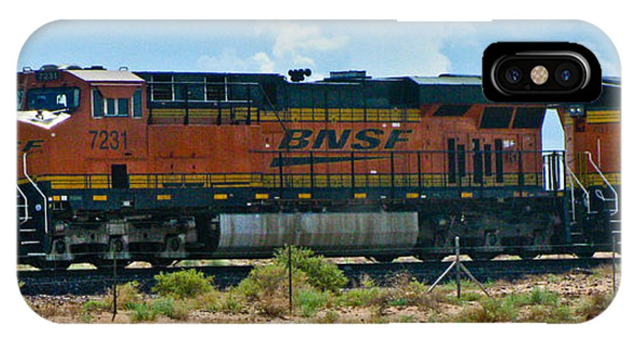 Train IPhone X Case featuring the photograph No. 7231 by Steve Purifoy