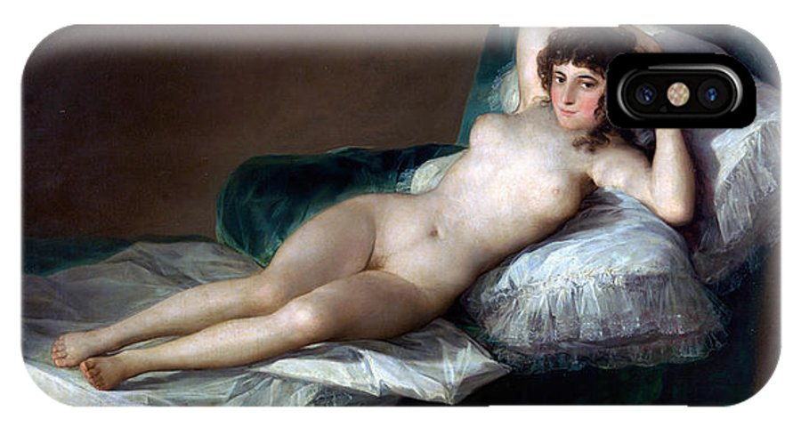Francisco Goya IPhone X / XS Case featuring the painting The Nude Maja by Francisco Goya