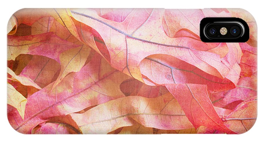Oak IPhone X Case featuring the photograph The Oak Leaf Pile by Heidi Smith