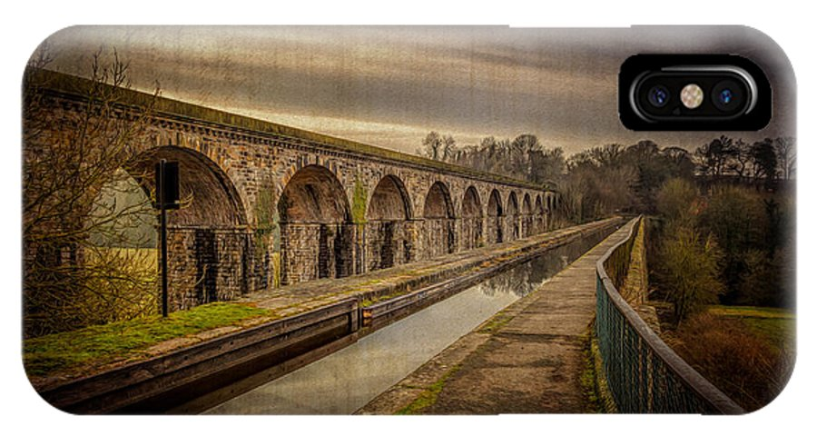 Chirk Aqueduct IPhone X Case featuring the photograph The Old Aqueduct by Adrian Evans