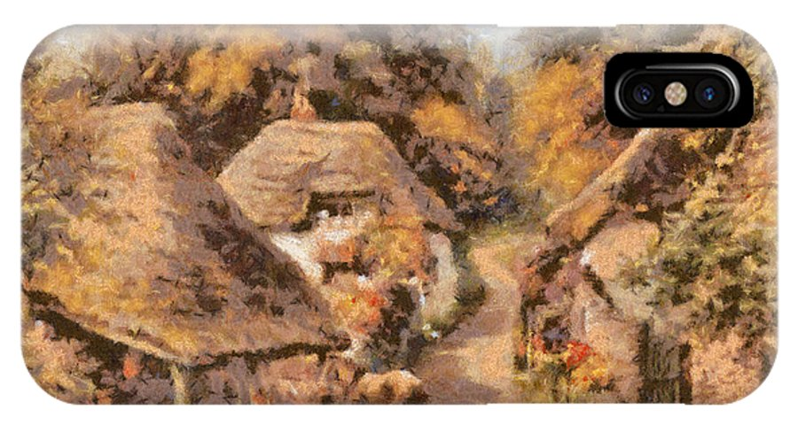 Landscape IPhone X Case featuring the digital art The Old Blacksmiths Forge by Charmaine Zoe